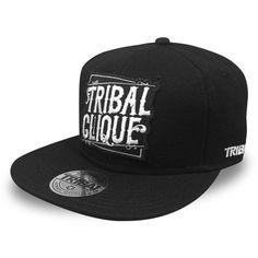 e99fa96e5b4 Tribal Streetwear Clique Patch Logo Snapback Hat Black Baseball Cap Flat   TribalGear  BaseballCap