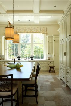 """Kitchen Cabinet Paint Color: The color on cabinets is """"Mayonnaise OC-85 by Benjamin Moore"""""""