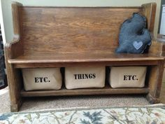 Vintage, 10 foot church pew cut in half and repurposed into a bench.