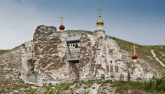 On the banks of the Don River, in the picturesque Voronezh region of Russia lies one of the most fascinating tourist attractions this country has to offer - the Spassky Cave Church. City Aesthetic, Largest Countries, Historical Architecture, Russian Architecture, Religious Art, Beautiful World, Places To See, Monument Valley, Mount Rushmore