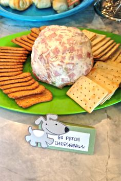glamourita go fetch cheeseball- frogs, snails and puppy dog tails boy baby shower