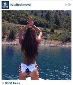 American Flag Bikini with Bow Bottom by AthensApparel on Etsy