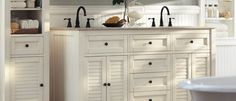 Home Decorators Collection, Hamilton  in the creme or charcoal color, like the coordinating shelving