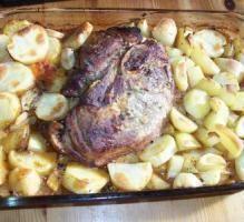 Recette - Rouelle de porc à la moutarde et vin blanc - Proposée par 750 grammes