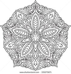 Abstract Vector Black Lace Design In Mono Line Style