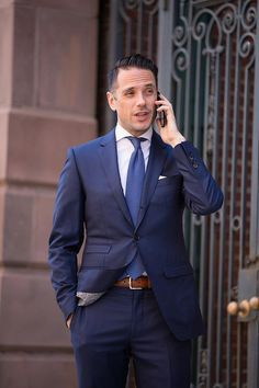 Click to enlarge Royal Blue Suit Trend: Spring Fashion - He Spoke Style