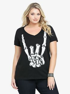 cute skeletal hand tee