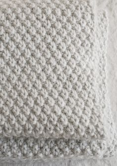 Double Seed Stitch Blanket - Knitting Crochet Sewing Crafts Patterns and Ideas! - the purl bee