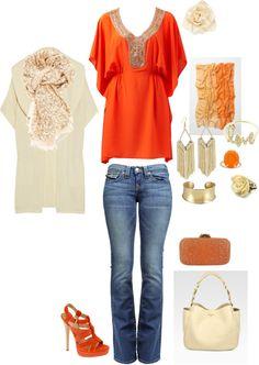 """""""Orange Cream"""" by kristen-344 on Polyvore"""