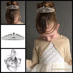 Cornrows and a twisted bun with a gorgeous tiara from the webshop www.goudhaartje.nl (worldwide shipping). Hairstyle inspired by: @vlechtidee (instagram) #hair #crown #tiara #bun #updo #cornrows #haar #vlecht #vlechten #hairclip #hairstyle #braid #braids #hairstylesforgirls #plait #trenza #peinando #прическа #pricheska #beautifulhair #gorgeoushair #stunninghair #hairaccessories #hairinspo #braidideas #amazinghair #goudhaartje