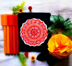 #PENLOVE @sangitacreates Orange based mandala inspired by a sunny day. Faber Castell connector pens were used to create this beauty.