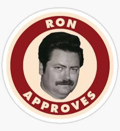 ron approves Sticker