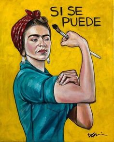 Fun painting/illustration I finished yesterday. acrylic on canvas. Diego Rivera, Kahlo Paintings, Frida Art, Frida Kahlo Artwork, Mexican Artists, Woman Illustration, Arte Pop, Pin Up, Portrait