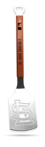 Sportula Products 7019079 St. Louis Cardinals Sportula by SPORTULA PRODUCTS. $24.44. Custom heat-stampled lettering. Unique laser-cut design. Hard maple handles with durable brass rivets. Heavy-duty stainless steel. convenient bottle opener. The Sportula is a heavy duty stainless steel grilling spatula that is perfectly designed for the Ultimate Tailgater.