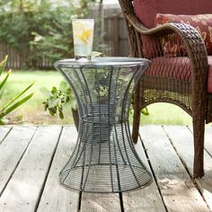 Indoors or outdoors, this table will surely serve your function while looking super stylish. The Wire Symmetry Table is made of solid iron wire with a powder-coated finish. Its airiness makes it lightweight and perfect for holding everything that you need without the clutter, and it's a marvelous accessory to any furniture piece.