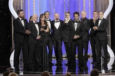 "Producer & Screenwriter Grant Heslov with Cast and Crew accept the award for Best Motion Picture, Drama, ""Argo"" on stage during the 70th Annual Golden Globe Awards at the Beverly Hilton Hotel International Ballroom on January 13, 2013 in Beverly Hills, California."