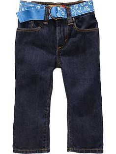 Anchor-Belted Skinny Jeans for Baby