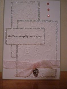 Wedding card done with embossing