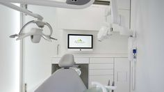 PORCELANOSA Grupo Projects: KRION® in the futuristic Dental Clinic in Valencia  #Solid Surface #mineralcompact #AcrylicStone