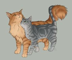 Purebreds - Lionblaze and Cinderheart by AnnMY on DeviantArt