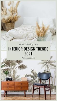 Wondering what's on the horizon for 2021? Here are a few of our predictions for new 2021 interior design trends! Time to update your decor? Interior Design Trends 2021: Our Predictions. interior trends that you need to know about. The most popular interior & wallpaper trends for 2021. Read more trends and tips on our blog. Where to buy trendy wallpaper. #wallpaper #wallmural #accentwall #featurewall #wallsauce #2020trends #trends #interiordesign #homedecor Contemporary Interior Design, Interior Design Tips, Interior Decorating Styles, Luxury Interior, Interior Design Inspiration, Yoga Studio Design, Interior Wallpaper, Style Deco, Home Decor Trends