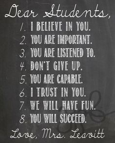 Dear Students (16x20) by MyAesthetic on Etsy