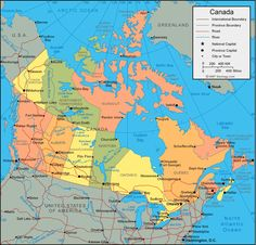 canada map and satellite image