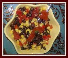 Bodacious Black Bean Corn Salad & Sweet Lime Dressing
