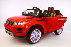 2016 12V Range Rover Evogue Style Battery Powered Ride-On Car With MP3 + MP4 Player in Bright Red
