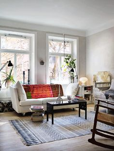 my scandinavian home: A charming Stockholm flat divided into two Living Room Designs, Living Room Decor, Living Spaces, Bedroom Decor, Scandinavian Interior Design, Scandinavian Home, Living Room Inspiration, Interior Inspiration, Inspiration Boards