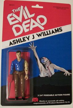 "Evil Dead ""Ash"" custom made retro style action figure"
