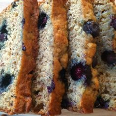 Blueberry Banana Bread!  A super easy quick bread perfect for using summer blueberries!  This recipe is great because it makes 2 loaves.