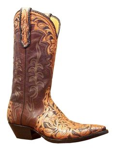 Triad (Brown & Tan) - Handmade Cowboy Boots from Liberty Boot Co