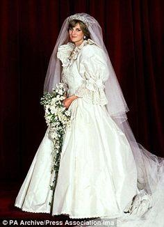 Princess Diana - July 29,1981 - Designed by David and Elizabeth Emanuel