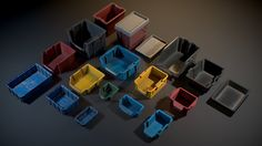 A collection of realistic Plastic Crates aimed to fill in-game environments. + 18 x _Meshes_ + 27 x _Textures_ details:__ + Physically-B. Physically Based Rendering, Plastic Crates, Game Environment, Albedo, 3d Printing, Texture, Cool Stuff, Storage, Normal Map