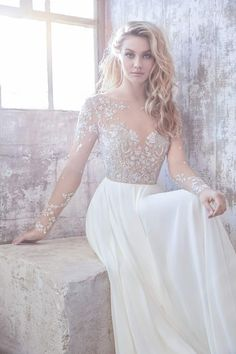 Long sleeve Hayley Paige wedding dress