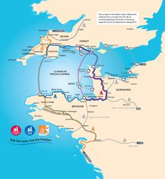Three new cycling routes connecting Brittany, Normandy and the South West of England