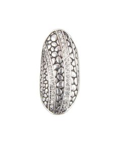 Silver Rhinestone Oval Stretch Ring | Daily deals for moms, babies and kids