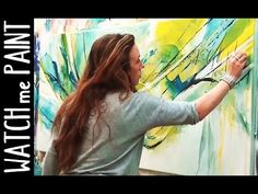 Abstract large acrylic painting demo - speedpainting - timelapse - by zacher-finet - New Ideas Abstract Painting Easy, Abstract Painting Techniques, Acrylic Painting Flowers, Painting Videos, Art Techniques, Knife Painting, Abstract Art, Abstract Landscape, Acrilic Paintings