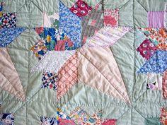 Vintage Quilt Antique Quilts  Patchwork by VintageQuiltShop