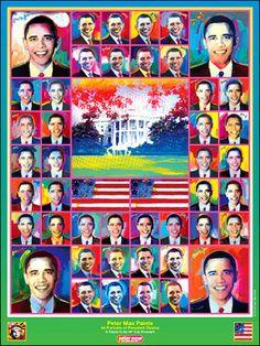 Portraits of Pres. Obama Peter Max