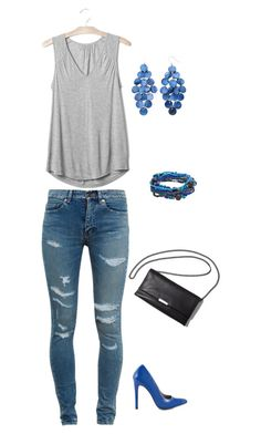"""""""Untitled #1040"""" by netteskytte on Polyvore featuring Yves Saint Laurent, Michael Antonio and Gap"""