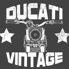'Ducati Vintage Scrambler' by Ducati Scrambler, Scrambler Motorcycle, Motorcycle Art, Retro Vector, T Shirt Image, Living Room, Prints, Vintage, Ideas