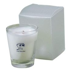 Mini Clear Candle Votive with custom imprint. #FemmePromo #Customcandles