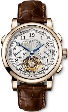 A. Lange and Sohne Tourbograph Pour le Merite Silver Dial Ladies Watch $483,455.00