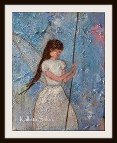 Guardian Angel Original Figurative Painting