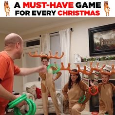 Inflatable Reindeer Party Game Hurry, before it is gone! Description: Perfect for Christmas, Pool or Birthday Parties - Increase the fun with this cool Inflatable Reindeer Party Game Set. Fun Christmas Party Games, Xmas Party, Christmas Activities, Kids Christmas, Christmas Decorations, Party Fun, Birthday Parties, Christmas Morning, Christmas Soldiers