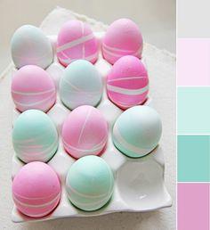 Dekorera ägg med mönster av gummiband
