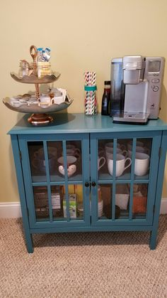 Coffee station Target windham collection cabinet 2 tier shelf -home goods Jars -home goods