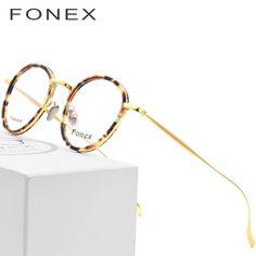 e502ade800c Pure Titanium Glasses Frame Men 2018 Light Vintage Round Ultralight Prescription  Eyeglasses Women Myopia Optical Frames Eyewear Review